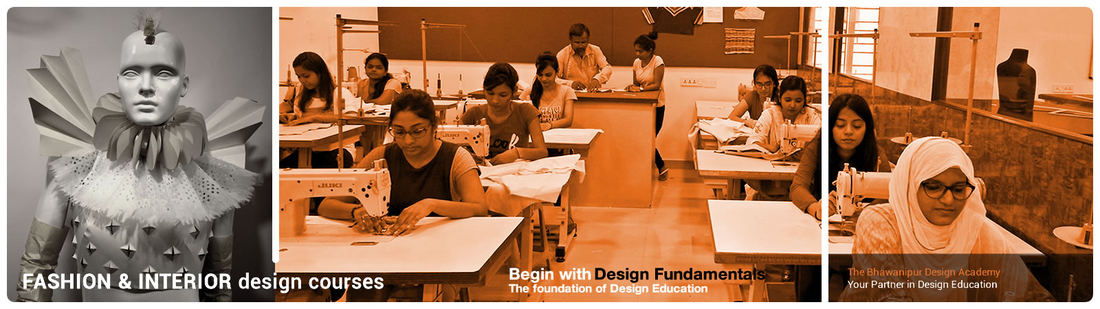 the bhawanipur design academy [bda], fashion design, interior design